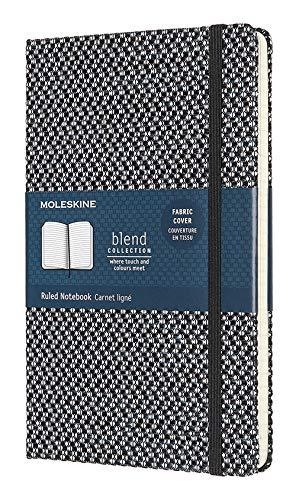 Moleskine - Klassisches Liniertes Notizbuch - Blend Kollektion - Hardcover mit Elastischem Verschlussband - Farbe Grün - Größe A3 13 x 21 - 240 Seiten - 1