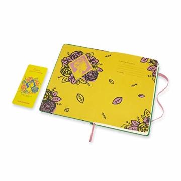 Moleskine Limited Edition Frida Kahlo Notizbuch, Notizblock mit linierten Seiten, Hardcover und elastischem Verschluss, Großes A5-Format 13 x 21 cm, Farbe Grün, 240 Seiten - 3
