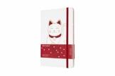 Moleskine Limited Edition Maneki Neko Notizbuch, liniertes Notizbuch mit japanischer Katze, Hardcover, Großes A5-Format 13 x 21 cm, Farbe Weiß, 240 Seiten - 1