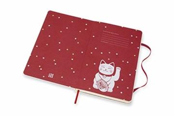 Moleskine Limited Edition Maneki Neko Notizbuch, liniertes Notizbuch mit japanischer Katze, Hardcover, Großes A5-Format 13 x 21 cm, Farbe Weiß, 240 Seiten - 4