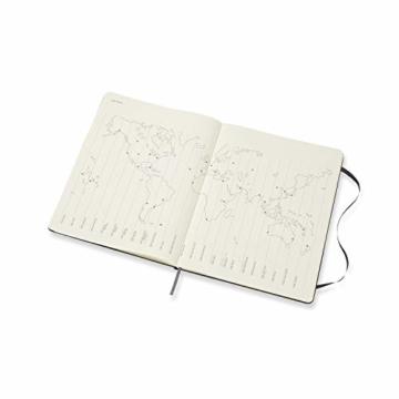 Moleskine Monatskalender 2021, 12 Monate Monatskalender, Notizbuch mit festem Einband, Format XL 19 x 25 cm, Farbe schwarz, 128 Seiten - 2