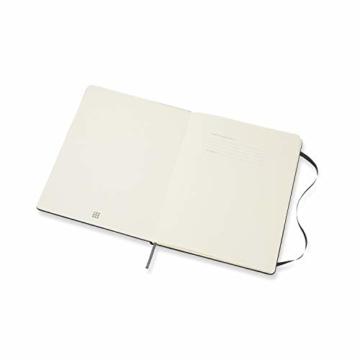 Moleskine Monatskalender 2021, 12 Monate Monatskalender, Notizbuch mit festem Einband, Format XL 19 x 25 cm, Farbe schwarz, 128 Seiten - 3