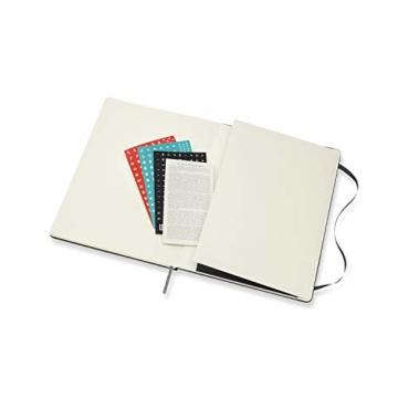 Moleskine Monatskalender 2021, 12 Monate Monatskalender, Notizbuch mit festem Einband, Format XL 19 x 25 cm, Farbe schwarz, 128 Seiten - 8