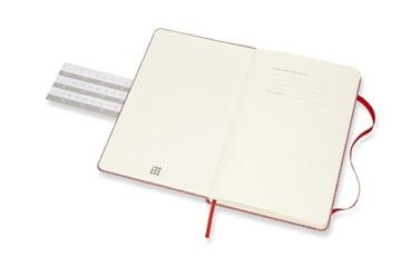 Moleskine Notizbuch Blend Kollektion (Liniertes Notizbuch mit Stoff Hardcover und elastischem Verschluss, Großformat 13 x 21 cm) 240 Seiten, rot - 2