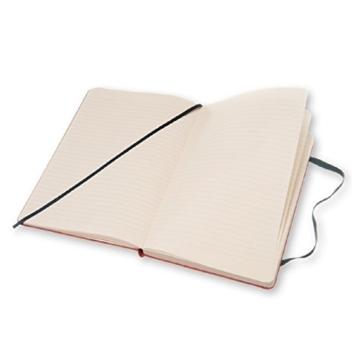 Moleskine Notizbuch Blend Kollektion (Liniertes Notizbuch mit Stoff Hardcover und elastischem Verschluss, Großformat 13 x 21 cm) 240 Seiten, rot - 4