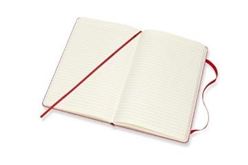 Moleskine Notizbuch Blend Kollektion (Liniertes Notizbuch mit Stoff Hardcover und elastischem Verschluss, Großformat 13 x 21 cm) 240 Seiten, rot - 6
