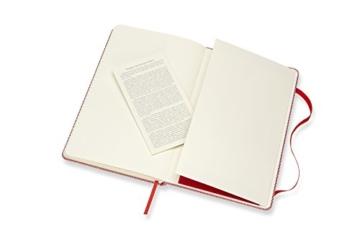 Moleskine Notizbuch Blend Kollektion (Liniertes Notizbuch mit Stoff Hardcover und elastischem Verschluss, Großformat 13 x 21 cm) 240 Seiten, rot - 7