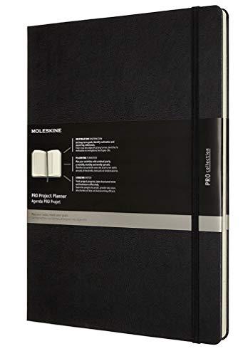 Moleskine - Pro Projektplaner und Notizbuch, Professioneller Terminkalender, Produktivität für Projekte und Projektmanagement, Hardcover, Format 21 x 29,7 cm, Farbe schwarz, 288 Seiten - 1