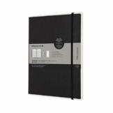 Moleskine - Smart Diary Pro, Digitaler Kalender Planer 2021, 12-monatiger digitaler Wochenplaner, Wochenplanerverwaltung, Hardcover, Format XL 19 x 25 cm, 176 Seiten, Farbe schwarz - 1