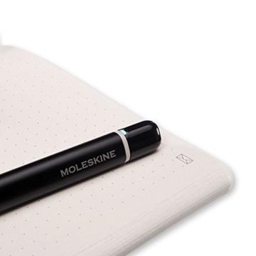Moleskine Smart Writing Set Paper Tablet Notizbuch und Pen+ Smartpen (Smart Notizbuch Paper Tablet geeignet für die Verwendung mit Moleskine Pen+, gepunktet, Large 13 x 21cm) schwarz - 3