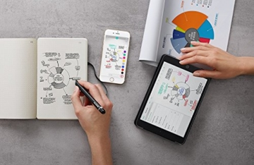 Moleskine Smart Writing Set Paper Tablet Notizbuch und Pen+ Smartpen (Smart Notizbuch Paper Tablet geeignet für die Verwendung mit Moleskine Pen+, gepunktet, Large 13 x 21cm) schwarz - 4