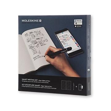 Moleskine Smart Writing Set Paper Tablet Notizbuch und Pen+ Smartpen (Smart Notizbuch Paper Tablet geeignet für die Verwendung mit Moleskine Pen+, gepunktet, Large 13 x 21cm) schwarz - 5