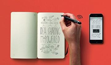 Moleskine Smart Writing Set Paper Tablet Notizbuch und Pen+ Smartpen (Smart Notizbuch Paper Tablet geeignet für die Verwendung mit Moleskine Pen+, gepunktet, Large 13 x 21cm) schwarz - 7