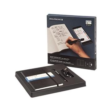 Moleskine Smart Writing Set Paper Tablet Notizbuch und Pen+ Smartpen (Smart Notizbuch Paper Tablet geeignet für die Verwendung mit Moleskine Pen+, gepunktet, Large 13 x 21cm) schwarz - 10