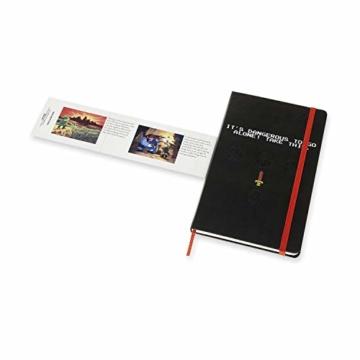 Moleskine - The Legend of Zelda Thematisches Notizbuch in limitierter Auflage, Schwert Edition, Linierte Seiten, Hardcover und thematische Grafiken, Größe 13 x 21 cm, 240 Seiten - 6