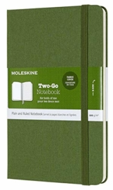 Moleskine Two-Go Notizbuch (Medium) grasgrün - 1
