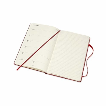 Moleskine Wochen Notizkalender, Taschenkalender, 12 Monate, 2020, Large, A5, Hard Cover, Scharlachrot - 2