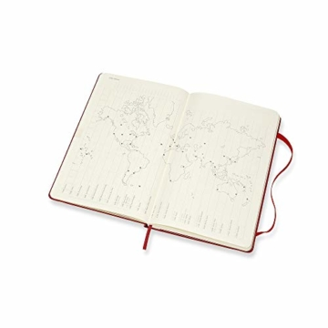 Moleskine Wochen Notizkalender, Taschenkalender, 12 Monate, 2020, Large, A5, Hard Cover, Scharlachrot - 4