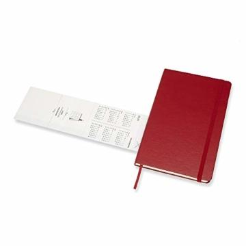 Moleskine Wochen Notizkalender, Taschenkalender, 12 Monate, 2020, Large, A5, Hard Cover, Scharlachrot - 5