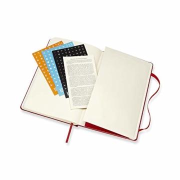 Moleskine Wochen Notizkalender, Taschenkalender, 12 Monate, 2020, Large, A5, Hard Cover, Scharlachrot - 6