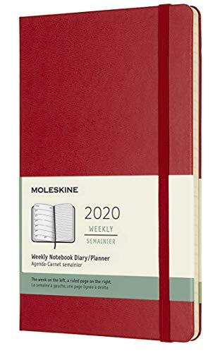 Moleskine Wochen Notizkalender, Taschenkalender, 12 Monate, 2020, Large, A5, Hard Cover, Scharlachrot - 1
