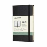 Moleskine Wochenkalender 2021, 12 Monate Wochenplaner horizontal, fester Einband, Format Pocket 9 x 14 cm, Farbe schwarz, 144 Seiten - 1
