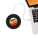 MUSTARD - Hot Tracks Cup Warmers I USB-Tassenwärmer I USB-Gadgets I Büro I Becherwärmer I elektrisch I Kaffeewärmer I USB-Getränkewärmer I Warmhalteplatte I Tassenuntersetzer I Schallplatte - Schwarz - 1