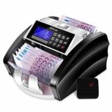 MVPower Geldzählmaschine Banknotenzähler: automatische Zählung und Selbstprüfung, genaue Erkennung mit UV/MG/IR/MT/DD Erkennung, farbwechselbare LCD-Anzeige, Fälschungsalarm - 1