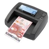 OLYMPIA NC 335 Automatisches Geldscheinprüfgerät – Updatebar – LCD-Display – Geldzähler integriert | Mobiler Geldscheinprüfer, Banknotenprüfer für Euro-Noten - 1