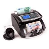 oneConcept Buffett - Geldscheinzähler, Geldzählmaschine, Banknotenzähler, Mengenzähler, Echtheitserkennung über UV, Infrarot und Magnet, LED-Display, justierbare Geldscheindicke, schwarz - 1