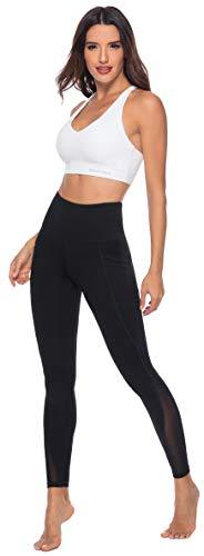 Persit Yoga Leggings Damen, Sporthose Yogahose Sport Leggins Tights für Damen, 38(M), Schwarz - 2
