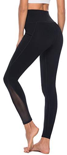 Persit Yoga Leggings Damen, Sporthose Yogahose Sport Leggins Tights für Damen, 38(M), Schwarz - 3