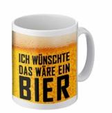 PHRASE 1 by FotoPremio Tasse mit lustigem Spruch | Ich wünschte das wäre EIN Bier | Kaffeetasse beidseitig Bedruckt | Geschenkidee für Freunde, Familie oder Lieblingskollegen - 1