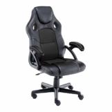 Play haha.Gaming Stuhl Büro Stuhl Drehstuhl Computer Stuhl Ergonomie Konferenz Stuhl Arbeits Stuhl Lordosenstütze PU-Leder Verstellbarer Arbeitsstuhl Gaslift ist SGS-geprüft(Schwarz) - 1
