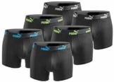 PUMA Boxershort 6er Pack Herren Basic Black Limited Edition - Action Triple Black - Gr. XL - 1