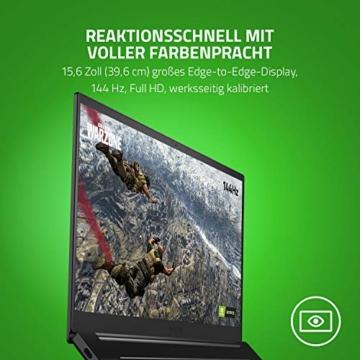 Razer Blade 15 Gaming Laptop 2020: 15,6 Zoll Full HD 144Hz Basis Modell, Intel Core i7 10th Gen, NVIDIA GeForce RTX 2060, 16GB RAM, 512GB SSD, Chroma RGB Beleuchtung | Qwertz DE-Layout - 4