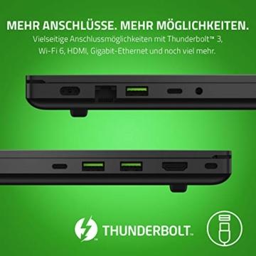 Razer Blade 15 Gaming Laptop 2020: 15,6 Zoll Full HD 144Hz Basis Modell, Intel Core i7 10th Gen, NVIDIA GeForce RTX 2060, 16GB RAM, 512GB SSD, Chroma RGB Beleuchtung | Qwertz DE-Layout - 5