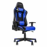 RIGHT TECHNOLOGY Gaming Stuhl Bürostuhl Gamer Ergonomischer Stuhl Einstellbare Armlehne Einteiliger Stahlrahmen Einstellbarer Neigungswinkel Blau - 1