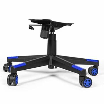 RIGHT TECHNOLOGY Gaming Stuhl Bürostuhl Gamer Ergonomischer Stuhl Einstellbare Armlehne Einteiliger Stahlrahmen Einstellbarer Neigungswinkel Blau - 4