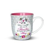 """Sheepworld 44399 Tasse mit Spruch """"Guten Freunden gibt man ein Küsschen"""", Porzellan, 60 cl, Geschenk-Artikel - 1"""