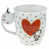"""Sheepworld 46218 Tasse mit Motivdruck:""""Wie schön, dass es dich gibt!"""", mit Geschenktag - 1"""