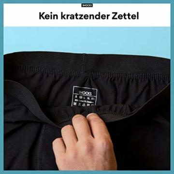 Snocks Boxershorts Herren ohne Logo (6X) Unterhosen Männer (6X Schwarz, Large) - 2