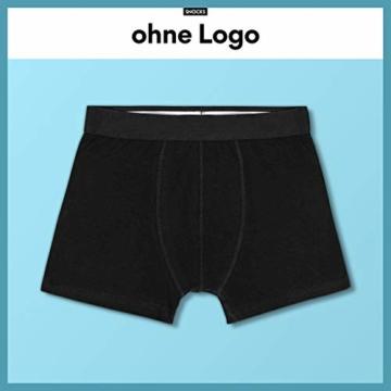 Snocks Boxershorts Herren ohne Logo (6X) Unterhosen Männer (6X Schwarz, Large) - 3