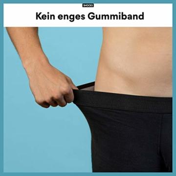 Snocks Boxershorts Herren ohne Logo (6X) Unterhosen Männer (6X Schwarz, Large) - 5