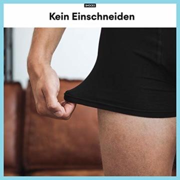 Snocks Boxershorts Herren ohne Logo (6X) Unterhosen Männer (6X Schwarz, Large) - 6