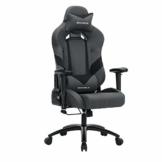 SONGMICS Bürostuhl Gaming Stuhl Chefsessel ergonomisch mit Verstellbare Armlehnen, Kopfkissen Lendenkissen 66 x 72 x 124-132 cm Grau-Schwarz RCG13G - 1