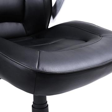 SONGMICS Racing Stuhl Bürostuhl Gaming Stuhl Chefsessel Drehstuhl PU, schwarz, OBG62B - 8