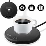 Spardar Tassenwärmer Getränkewärmer, elektrischer Kaffeewärmer, mit Zwei automatischen Temperaturreglern mit Schwerkraftsensor für den Büro- oder Heimgebrauch mit elektrischem Tassenboden - 1