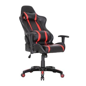 SVITA Gaming Stuhl Schreibtischstuhl Bürostuhl Drehstuhl Schreibtisch (Rot) - 5