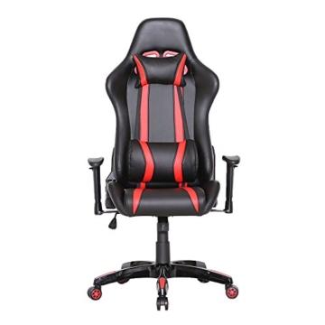 SVITA Gaming Stuhl Schreibtischstuhl Bürostuhl Drehstuhl Schreibtisch (Rot) - 6